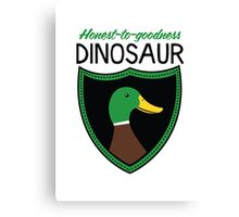 Honest-To-Goodness Dinosaur: Duck (on light background) Canvas Print