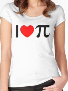 I Heart Pi - I Love Pi Women's Fitted Scoop T-Shirt
