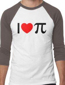 I Heart Pi - I Love Pi Men's Baseball ¾ T-Shirt