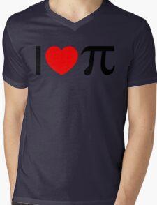 I Heart Pi - I Love Pi Mens V-Neck T-Shirt