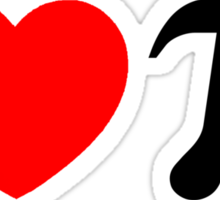 I Heart Pi - I Love Pi Sticker