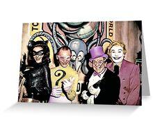 Batvillains Greeting Card