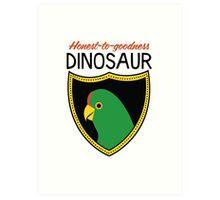 Honest-To-Goodness Dinosaur: Parakeet (on light background) Art Print
