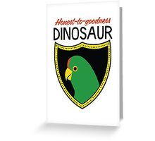 Honest-To-Goodness Dinosaur: Parakeet (on light background) Greeting Card