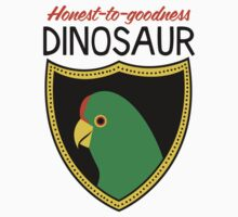 Honest-To-Goodness Dinosaur: Parakeet (on light background) by David Orr