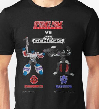 Transformers: Console Wars - OptiSNES vs. MegaGen! Unisex T-Shirt