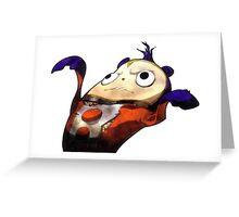 Flat Teddie Greeting Card