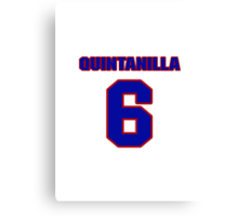 National baseball player Omar Quintanilla jersey 6 Canvas Print