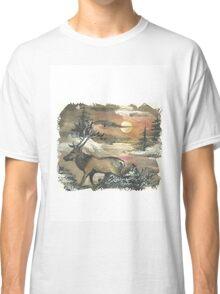 Elk  in sunset Classic T-Shirt