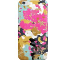 Laurel - Abstract painting with gold, navy, turquoise, pink, and blush iPhone Case/Skin