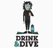 Drink and Dive - Scuba Diver - Black Short Hair Kids Clothes