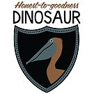 Honest-To-Goodness Dinosaur: Pelican (on light background) by David Orr