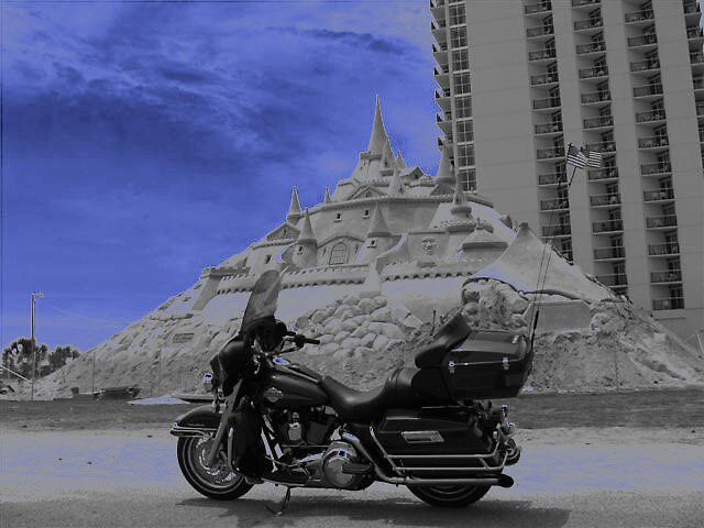 Harley on the Beach by Joseph Klatka