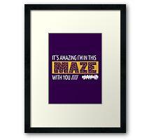 Holy Grail - Jay-Z - Purple Framed Print