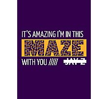 Holy Grail - Jay-Z - Purple Photographic Print