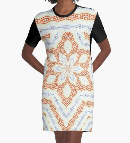 Lacy Bows and Snowflake  Graphic T-Shirt Dress
