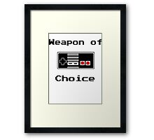 Old School Gamer Weapon of Choice Art Framed Print