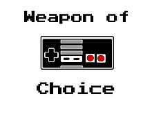 Old School Gamer Weapon of Choice Art Photographic Print