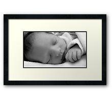 New Born Sleeping  Framed Print