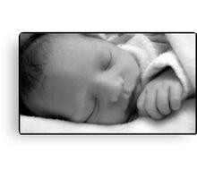 New Born Sleeping  Canvas Print