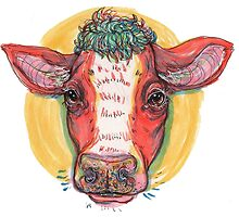 Carrot top cow by thesickgirl