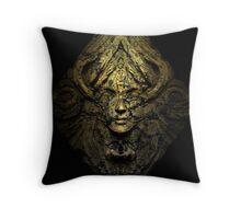 Ancient alien tablet (grunge) Throw Pillow