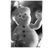 Snowman on Christmas Tree Poster
