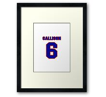 National baseball player Johnny Callison jersey 6 Framed Print