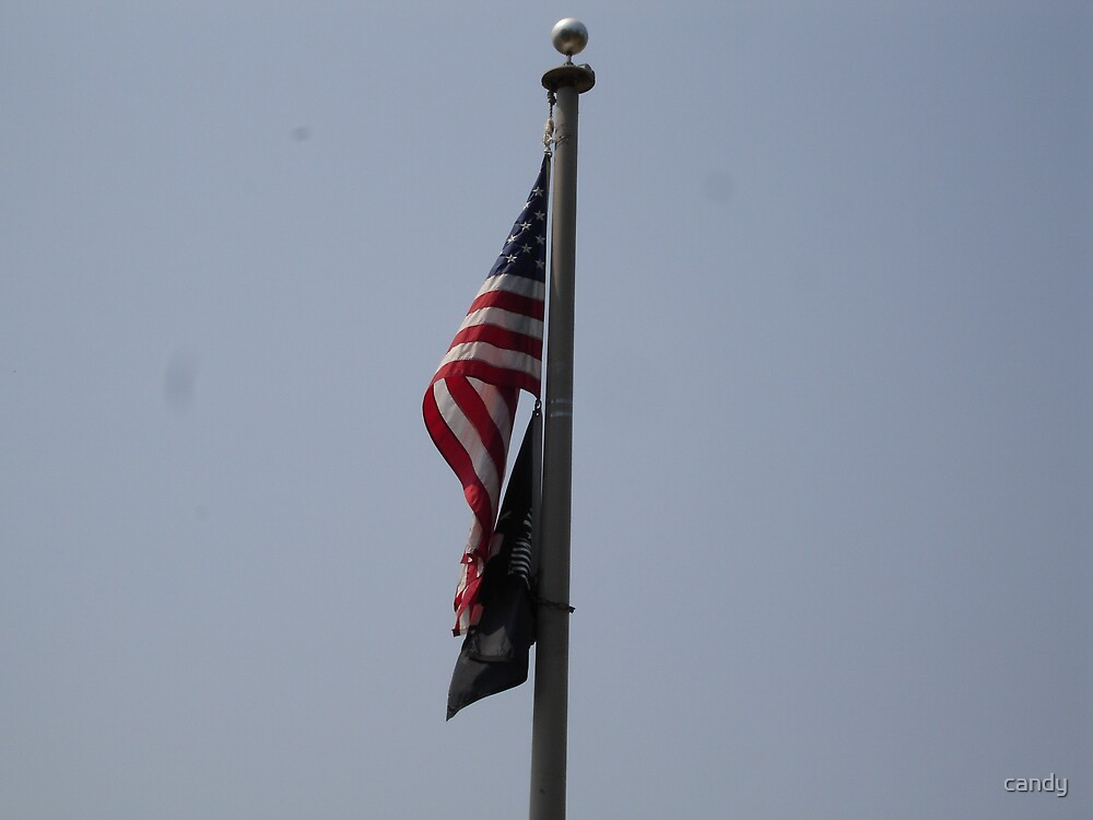 Our Flag and our POW flag by candy