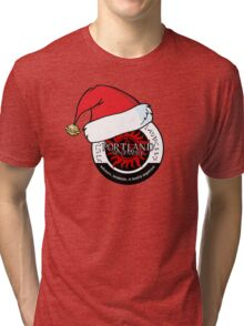 Portland Supernatural Family - Christmas hat Tri-blend T-Shirt