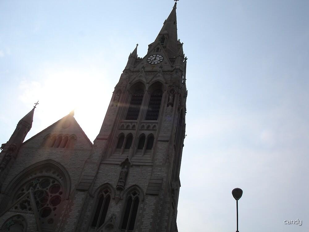 Church steaple by candy