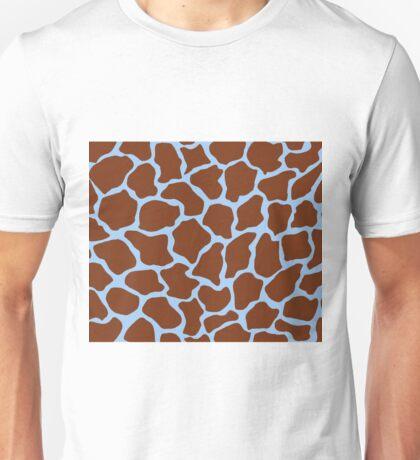 Baby Blue Eyes in Giraffe Pattern  Unisex T-Shirt