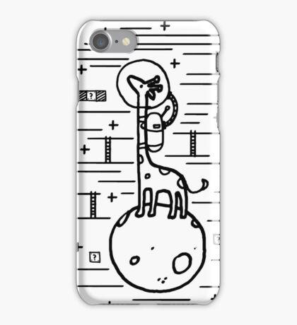 Reaching stars giraffe animal art iPhone Case/Skin
