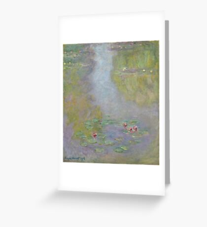 Claude Monet - Water Lilies 1908 Greeting Card