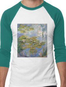 Claude Monet - Water Lilies 1919 Men's Baseball ¾ T-Shirt