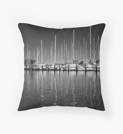 Boats and Yachts Throw Pillow
