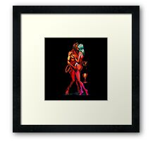 Erotic art hot sex hot red Framed Print