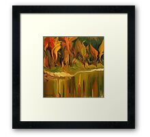 Autumn leaves ~ Abstract 28- wall art/ Clothinge & Stickers + IPhone Cases + Laptop Skins+Throw Pillows+Bag Framed Print