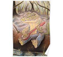 Alligator Playing The Banjo Poster
