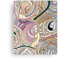 Abstract graphic with colorful shapes and textures Canvas Print