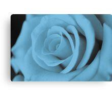 Cyan Rose Canvas Print