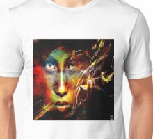 God all the time exchange of face. Happy the one who can recognize him under each of the masks Unisex T-Shirt