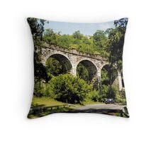 Bridge at Loch Lomond Throw Pillow