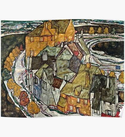 Egon Schiele - Crescent Of Houses Ii (Island Town) (1915) Poster