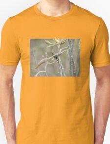 Monarch Butterfly Caterpillar on Milkweed Unisex T-Shirt