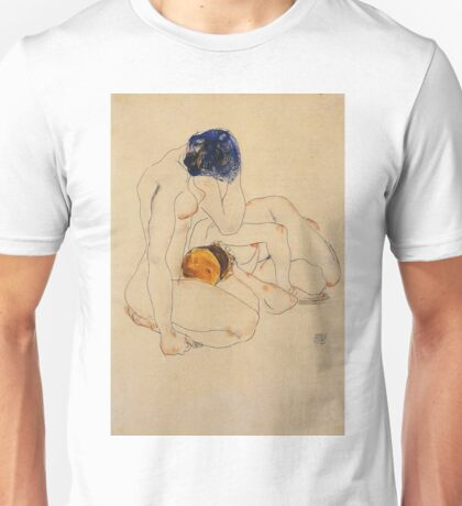 Egon Schiele - Two Friends 1912 Unisex T-Shirt