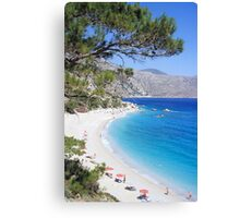 Greek Beach Canvas Print
