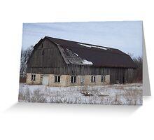 Old Wood Barn Greeting Card
