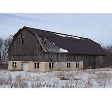 Old Wood Barn Photographic Print