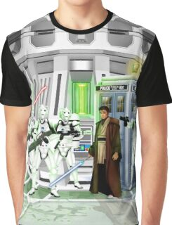 time and space traveller lost in the galaxy far far away Graphic T-Shirt